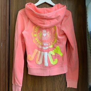 Juicy Couture Velour Zip Up Jacket